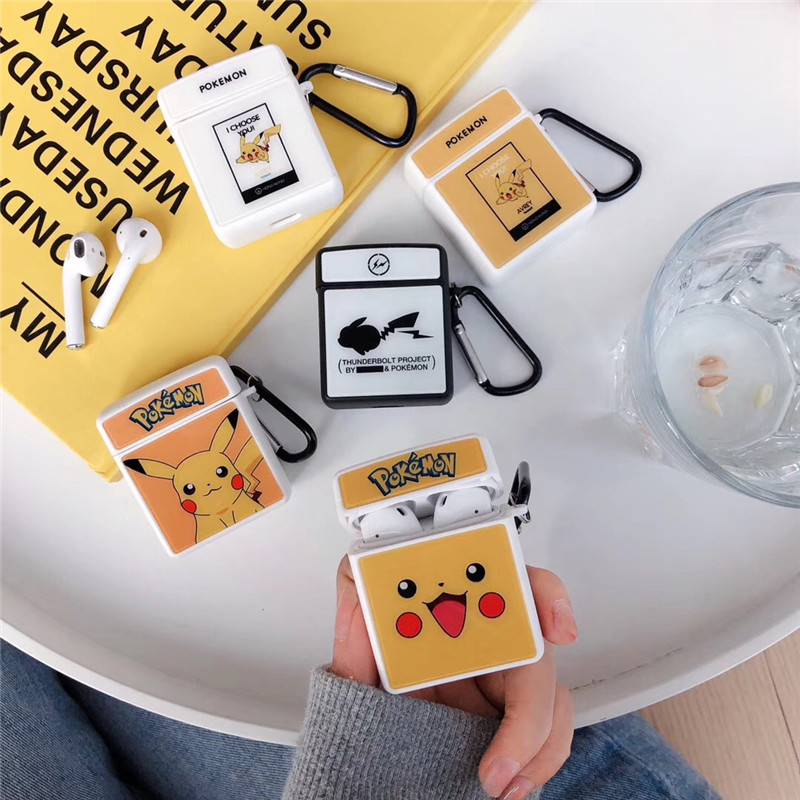 Cartoon Pet For airpods case Glossy Glass Wireless Bluetooth Headset AirPods 1/2 Soft Case TPU Charging Protection Box