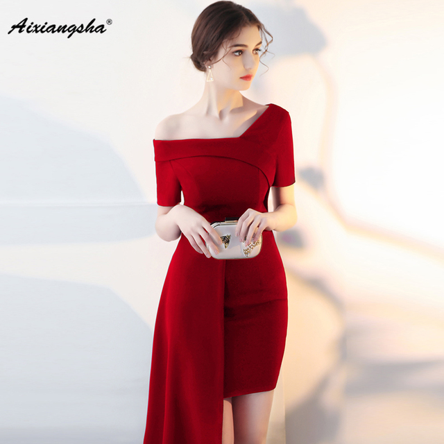 00e6935fa 2018 elegante vino rojo de manga corta vestidos de fiesta largos elegantes  de gala vestidos de