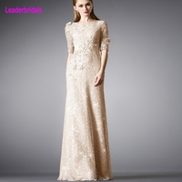 New Mother's Dress Lace Applique Beaded 3/4 Sleeves Mother of the Bride Dresses Long Vestidos De Festa Stock Evening Gown