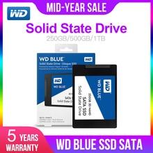 Western Digital Blue 250 ГБ/500 Гб/1 ТБ/2 ТБ WD 3D NAND Внутренний твердотельный накопитель SSD жесткий диск SATA 3,0 6 ГБ/сек. 2,5 »для ПК компьютер