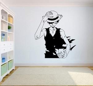 Image 1 - Gadgets envoltório um pedaço de parede decalque de vinil superior anime arte da parede macaco d. Luffy vinil adesivo decoração para casa quarto design hzw08