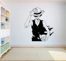 ガジェットラップワンピース壁ビニールデカール最高アニメ壁アート d。ルフィビニールステッカー装飾用デザイン HZW08