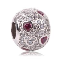 Dodocharms Newest DIY Fit Original Pandora Charms Bracelet 925 Sterling Silver Mickey Love Fashion Charms Beads