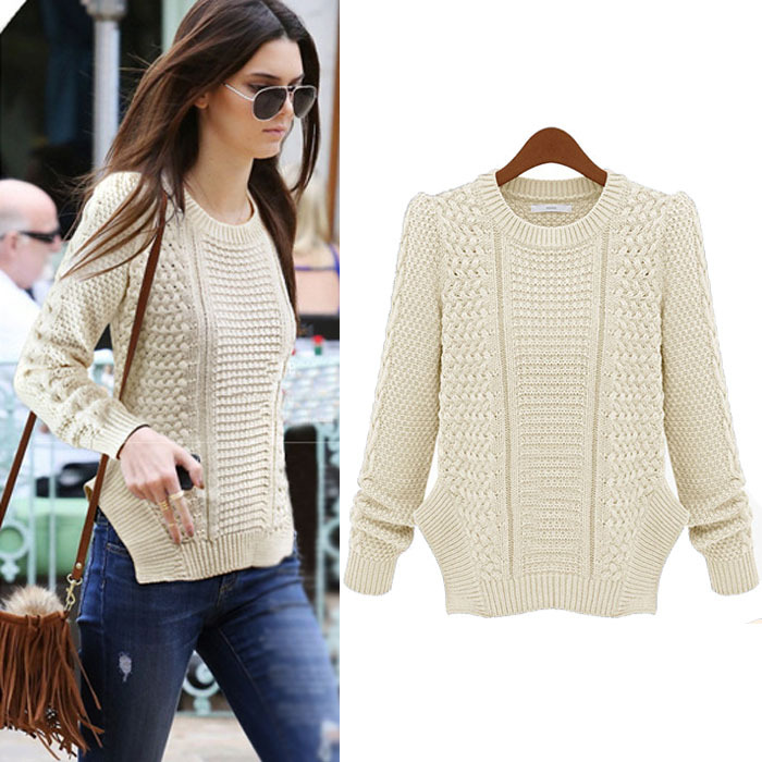 Fashion Plus Size Autumn Winter Women Sweater Slim Pullover Casual Top Knitted Sweaters free Shipp - Elegant girl NO 1 store