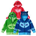 Meninos e meninas da moda casaco roupas pjmasks catboy gekko owlette hoodie dos desenhos animados + t roupa dos miúdos roupas de algodão set