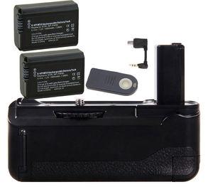 Jintu aperto de bateria vertical + 2x NP-FW50 baterias + kit remoto ir para câmera sony a6000 como BG-3DIR w/2-step botão do obturador