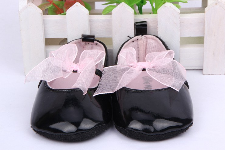 Baby Girls Shoes Noble Bow Princess Todder First Walkers Shoes Infant Prewalker Flower Soft Sole Shoes ZC2