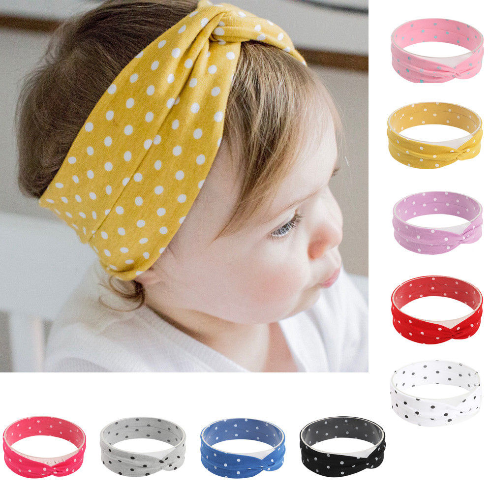 Naturalwell Baby Girls Head Wrap Toddler Twist Top Knot Headband Baby Girl Newborn Headwrap Turban Boho Grey Bandage HB046S