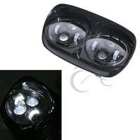 Двойной светодиодный комплект для сборки фар мотоциклетные фары для Дорожное покрытие для харлея 04 13 12
