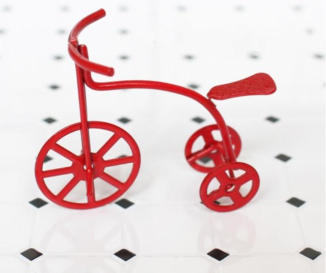Escala 1/12 Dollhouse Miniatura Cocina Muebles accesorios Bicicleta ...