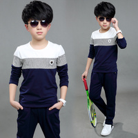 Children's clothing male child set spring 2016 7 child sports 9 spring and autumn boy casual 8 10 11 12