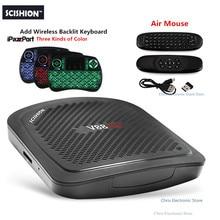 Original SCISHION V88 mini, V88 Mini II TV Box 4 Core Android 6.0 RK3229 1G 8G 2G 8G 4 K H.265 Reproductor Multimedia Inteligente Decodificadores