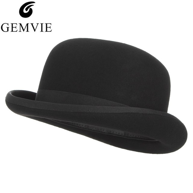 5c429e6f0 British Style Top Hat Men Women Cosplay Magician Hat Wool Felt Cap Vintage  Dome President Cap Party Fedoras Packaging With Box