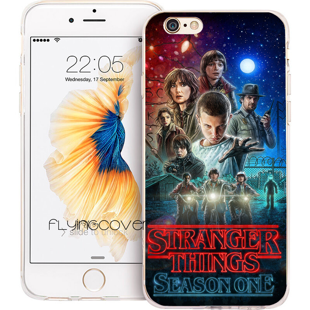 coque stranger  clear soft silicone phone cases