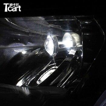 Tcart LED Mini Projector Headlight Lens 6000K Headlamp Car Styling High Low beam Light Automobles LED Bulbs For Chevrolet Cruze