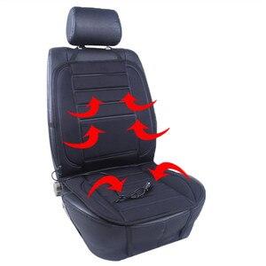 Image 5 - Universel 12V chauffage de siège chauffant doux épaississement siège de voiture coussin plus chaud housse de siège de voiture avec régulateur de température noir