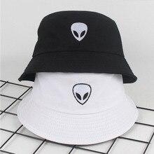 Шляпа-ведро с узором с пришельцами, унисекс, складная Кепка с вышивкой, хип-хоп, Gorros,, мужская летняя кепка, s, женская панама, шляпа-ведро для рыбалки