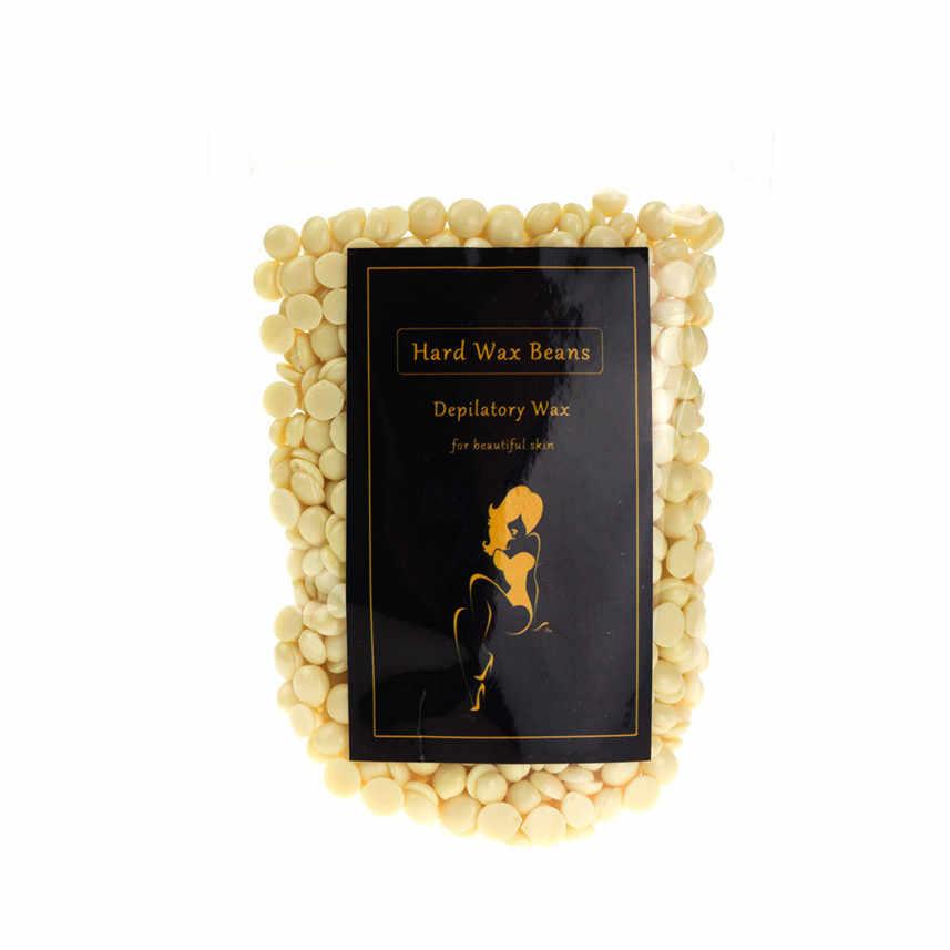 100g Krem Hiçbir Şerit Tüy Dökücü Sıcak Film Sert Balmumu Pelet Ağda Bikini Epilasyon Fasulye H30424