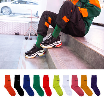 3 pairs size 38-45 zerlos Women's Socks Cotton Colorful letter print Cute Funny Happy kawaii Skull Alien Avocado Socks for women Socks