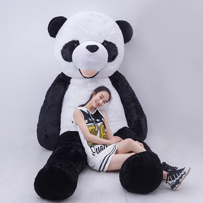 Orso non riempito gigante panda orso pelle 300 cm animale di alta qualità fai da te peluche morbido panda giocattolo per i bambini regalo di compleanno panda giocattolo pelle