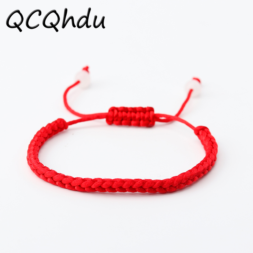 1PC Lucky China Red Rope Beads National Style Kabbalah String Braided Friendship Adjustable Bracelets ...