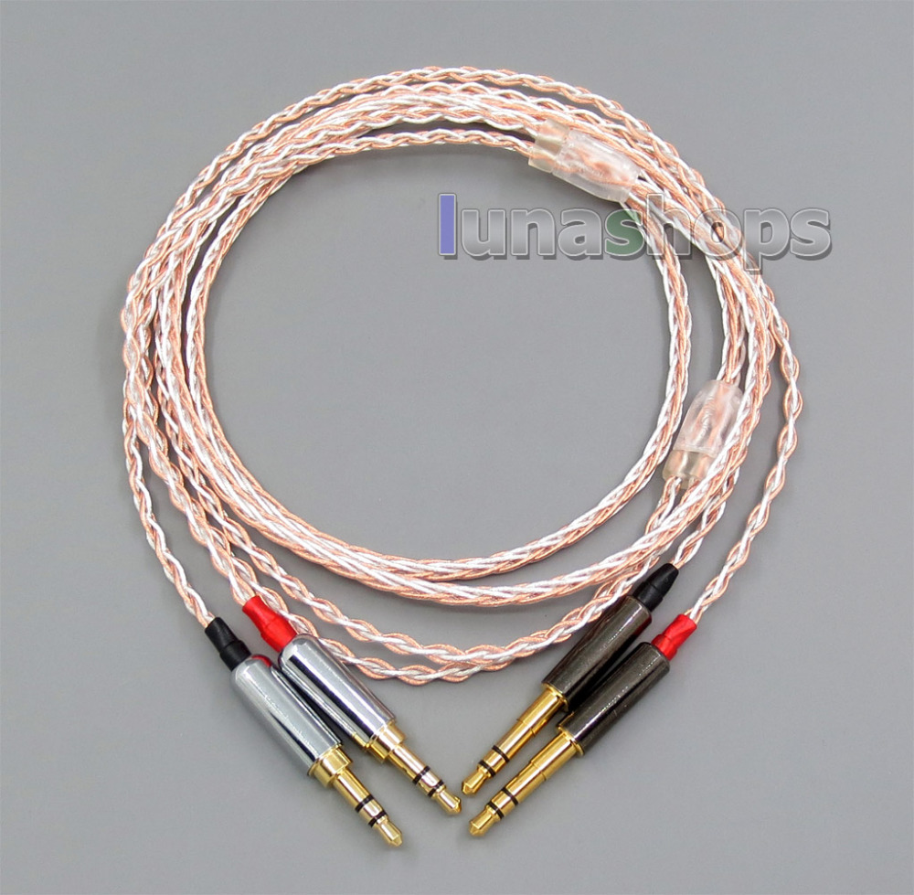 800 Wires Soft Silver + OCC Alloy Tefl AFT Earphone Headphone Cable For sony PHA-3 Pandora hope VI 800 wires soft silver occ alloy teflo aft earphone cable for westone es3x es5 um2 um3xrc um3x w4r straight ln005412