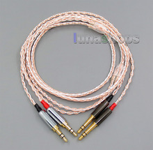 800 Wires Gentle Silver + OCC Alloy Tefl AFT Earphone Headphone Cable For sony PHA-Three Pandora hope VI