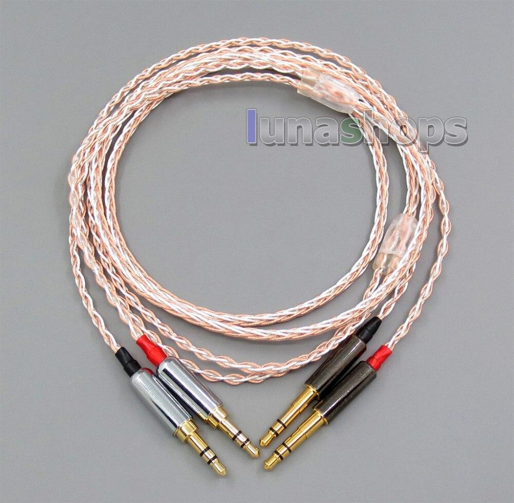 LN005598 800 Draden Zachte Zilver + OCC Legering Tefl AFT Oortelefoon Hoofdtelefoon Kabel Voor sony PHA 3 pandora Hoop vi-in Oortelefoonaccessoires van Consumentenelektronica op  Groep 1