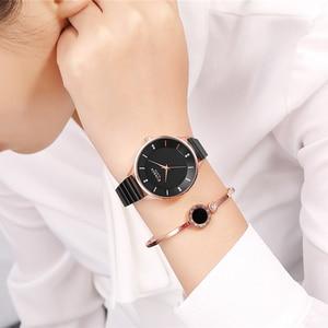 Image 5 - CURREN femme horloge argent Quartz femmes montres avec bracelet en acier inoxydable 9041 mode dames montre bracelet bayan kol saati