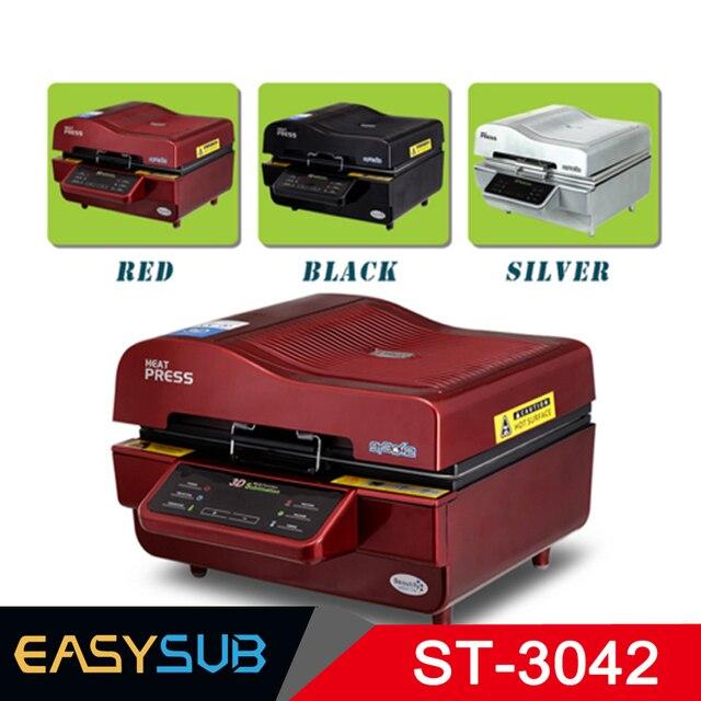 ST-3042 3D impresora de sublimación 3D de vacío de la prensa del calor de la máquina de transferencia de impresión para teléfono casos tazas platos Vasos