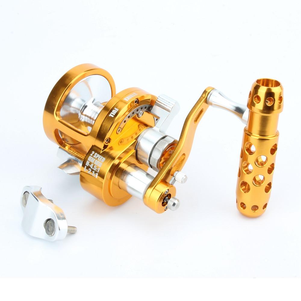 All Metal Saltwater Jigging Reel 7+1BB Drag 16kg Big Game Deep Sea Drum Trolling Reel 12 Speed Jigging Reel LeftRight Hand  (11)