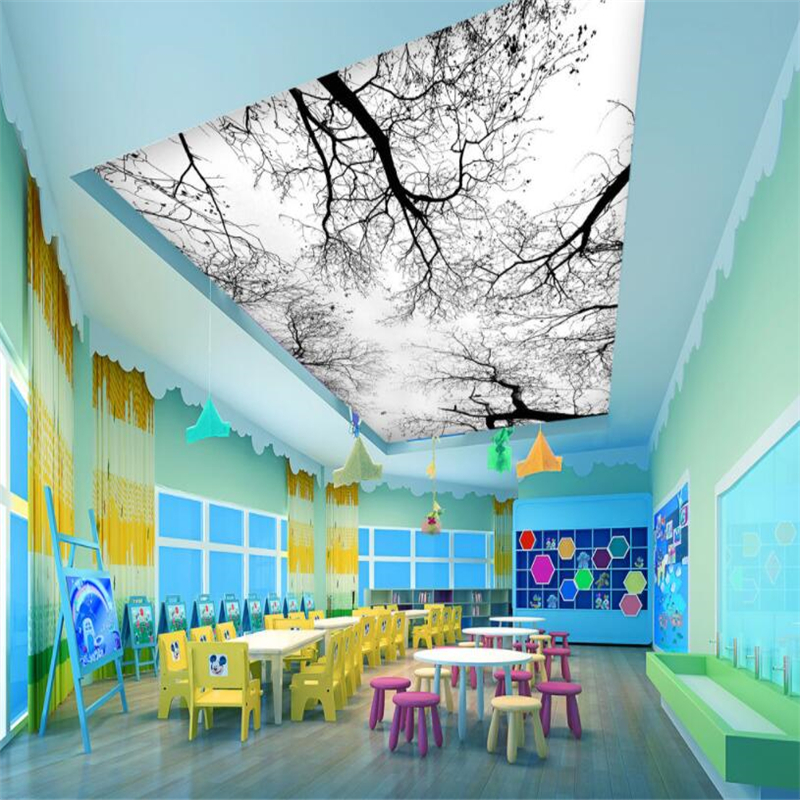 Beibehang Zenith HD Tree Modern Mural Photo Wallpaper 3D Ceiling Mural Living Room Theme Hotel fashion Decor 3d Wallpaper in Wallpapers from Home Improvement