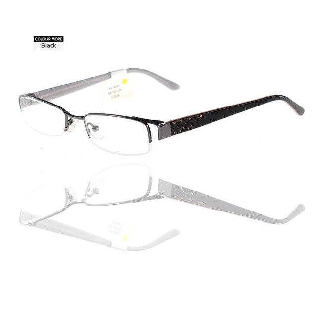 dac52217798 2018 New Design Fashion Lady Gold Style Half Rim Optical Eyewear Frames