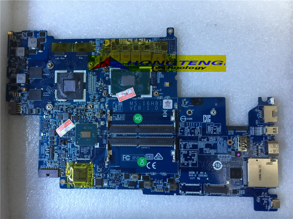 genuine MS 16H81 FOR MSI PX60 6QD 028XRU GS60 LAPTOP MOTHERBOARD WITH I5 6300HQ AND N16M Q2 A2  Test OK-in Computer Cables & Connectors from Computer & Office