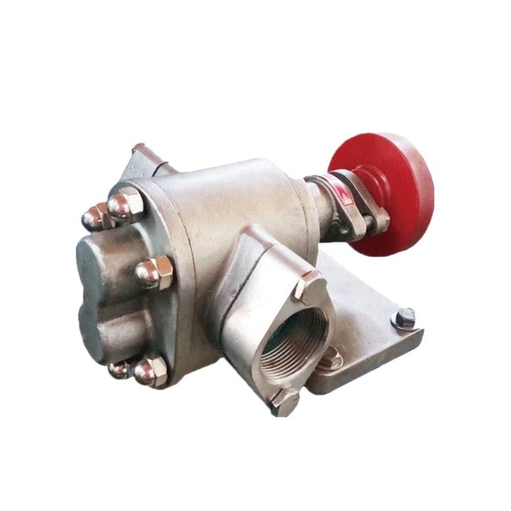 KCB 304 acier inoxydable pompe transfert pompe à huile tête KCB-18.3/33.3/55 Diesel huile moteur pompe à huile auto-amorçante pompe