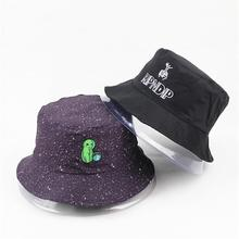 d1ed94e1 2019 Two sided Alien embroidery Bucket Hat Fisherman Hat outdoor travel hat  Sun Cap Hats for