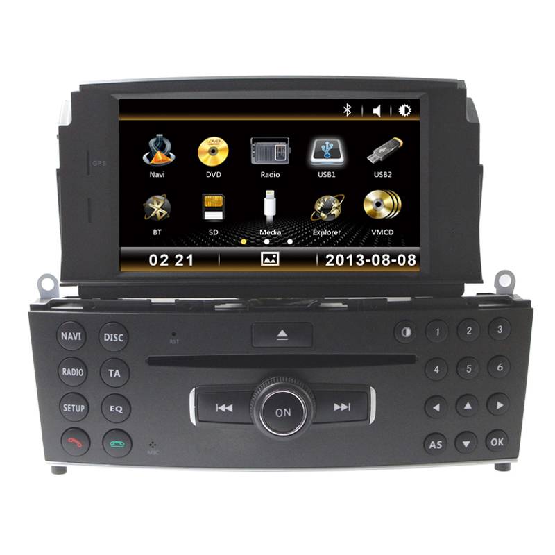 free shipping 7 car cd dvd player gps radio for mercedes. Black Bedroom Furniture Sets. Home Design Ideas