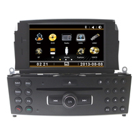 Free Shipping 7 Car CD DVD Player GPS Radio For Mercedes Benz C Class C200 C180 W204 2008 2009 2010 2011 2012 2013 With RDS