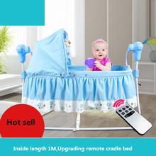 High Quality Multifunctional Electric Baby Cradle Baby Crib Intelligent Portable Folding Cradle with Music and Mosquito Net