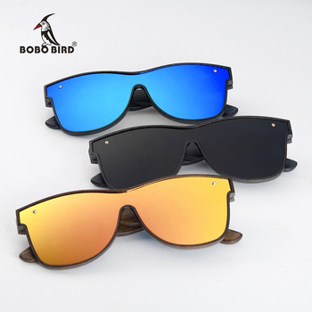 BOBO BIRD Sunglasses Men Brand Luxury Square Polarized Wood Sun Glasses Driving Eyewear UV400 Oculos De Sol Gafas 1