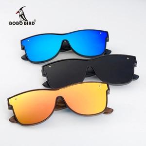 Image 1 - BOBO BIRD Sunglasses Men Brand Luxury Square Polarized Wood Sun Glasses Driving Eyewear UV400 Oculos De Sol Gafas