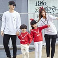 Navy Style Autumn Family Matching Clothes Mother/Dad/Baby Kids Printed Letter Long Sleeved Clothing Sweatshirt T -shirts S4082
