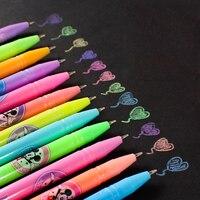 Children Student Drawing Graffiti Art Market Pen Set 12 24 36 48 Colors Glitter Fluorescent Gouache