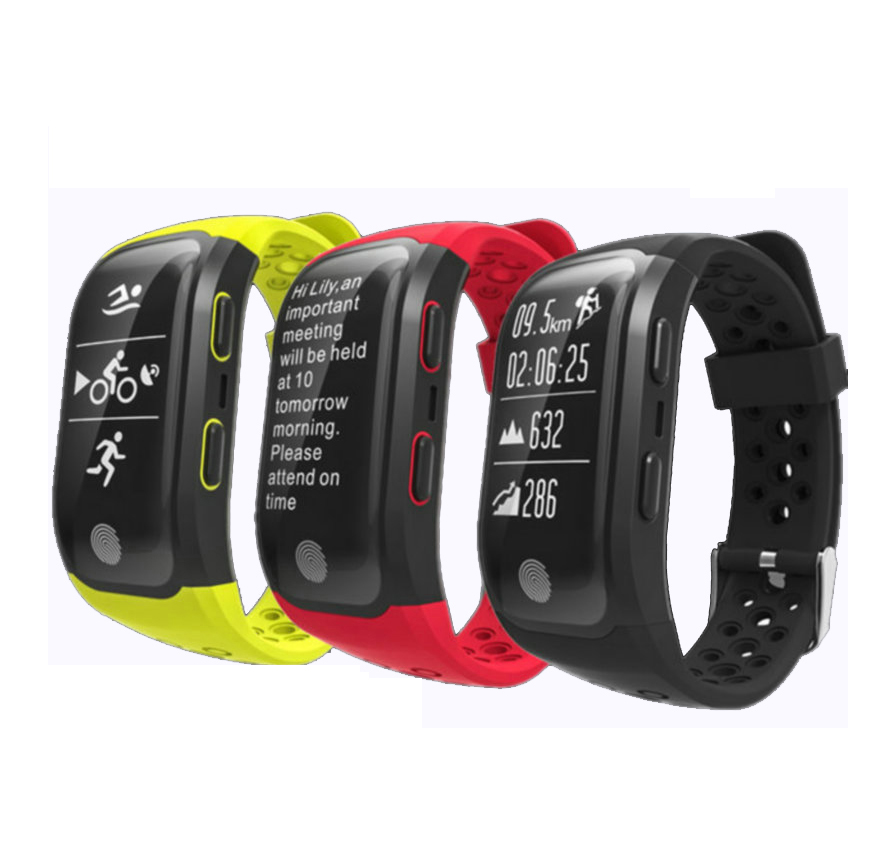 Smart Bracelet IP68 Waterproof Smart Band Heart Rate Monitor Call Reminder GPS Chip S908 Sports Bracelet