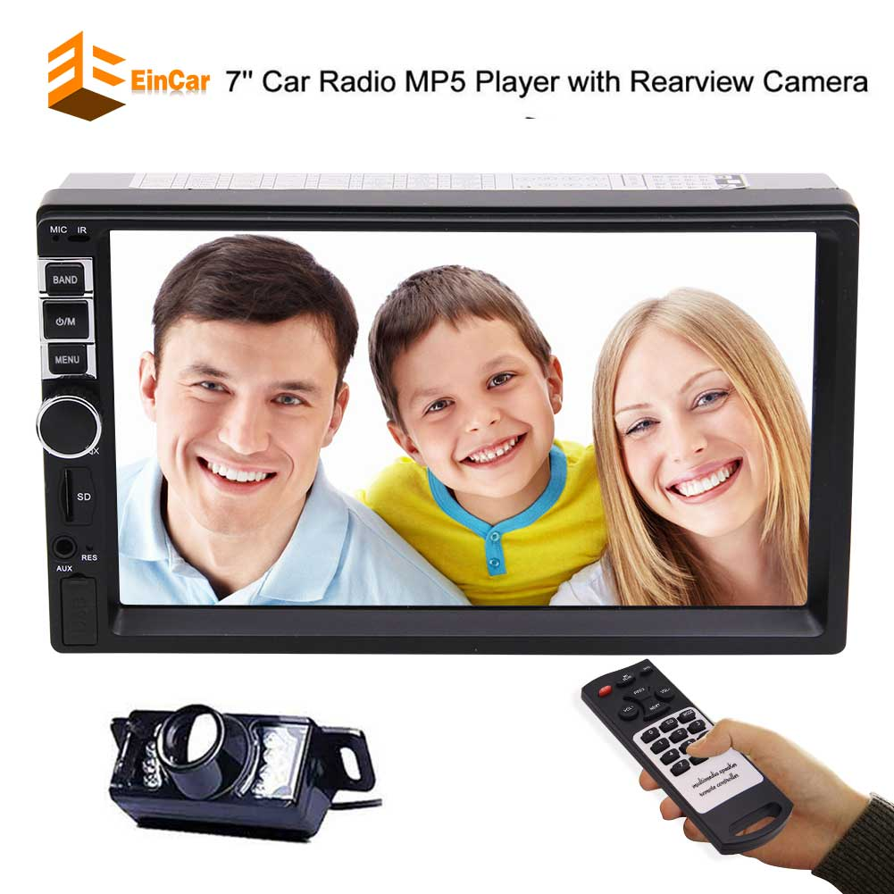 Universal Double 2 DIN Car no DVD CD USB FM Radio Touch Screen In Dash Stereo Autorradio Remote Control Aux-in+Free Camera steering wheel control car radio mp5 player fm usb tf 1 din remote control 12v stereo 7 inch car radio aux touch screen