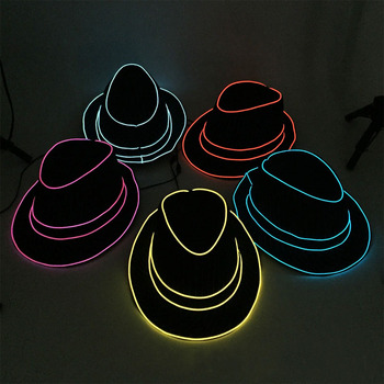 Glowing Hat English Top Hat Flash Jazz Hat Festival Celebration Masquerade Party Bachelorette Party Birhtday Decoration