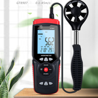 GT8901 Anemometer Digital Wind Speed Meter Air Velocity Temperature Humidity Measuring LCD with Backlight