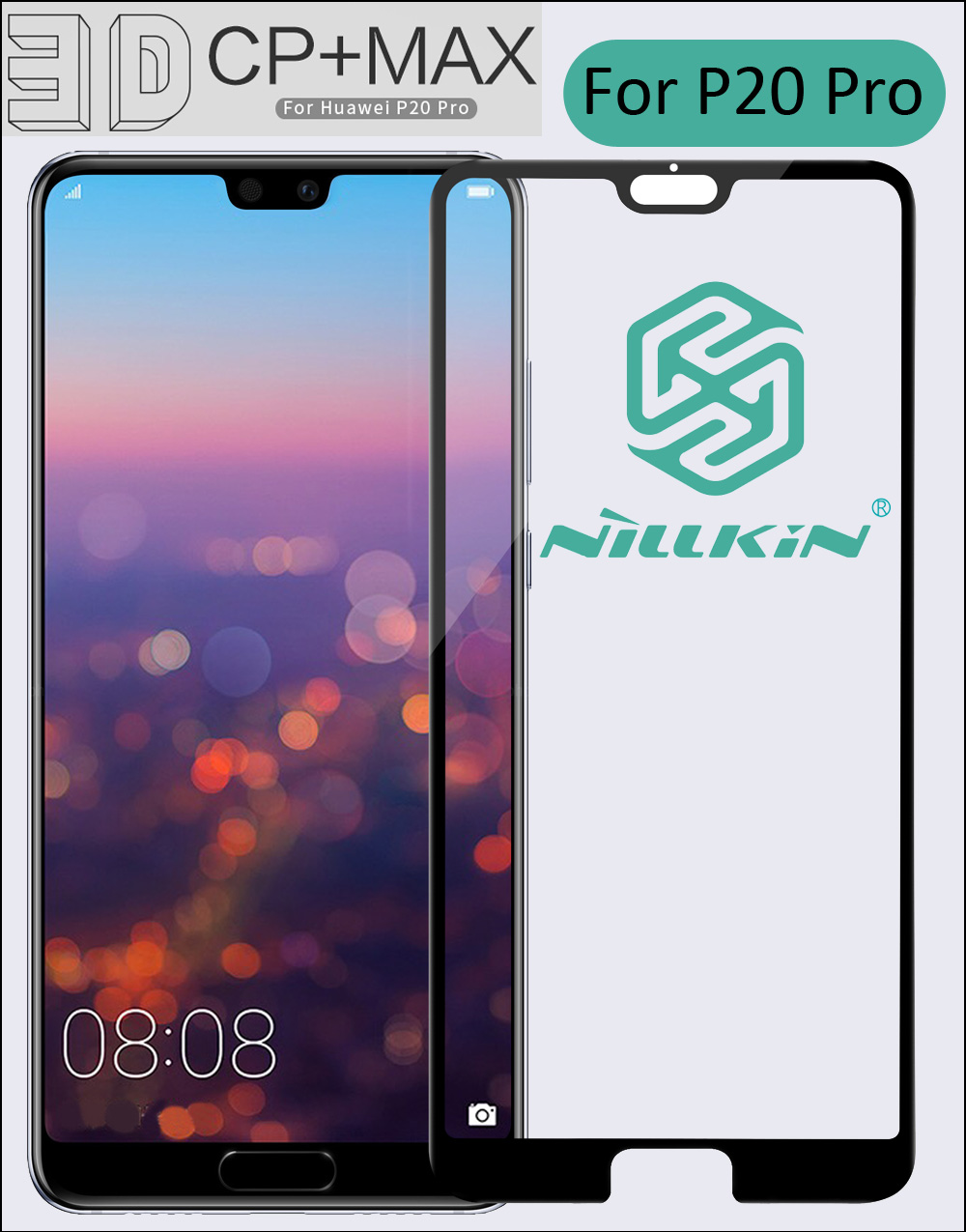 Nillkin 3D CP+ Max Tempered Glass For Huawei P20 Pro Full Screen Cover Protective oleophobic