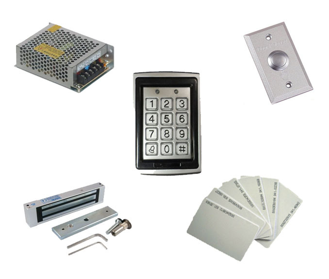 Free shipping by DHL ,access control kit ,waterproof access control+power+180kg magnetic  Lock+exit button+10 EM cards,sn:EM-T06 free ship by dhl access control kit waterproof access control switch power electric mute lock exit button 10 em cards sn em t10