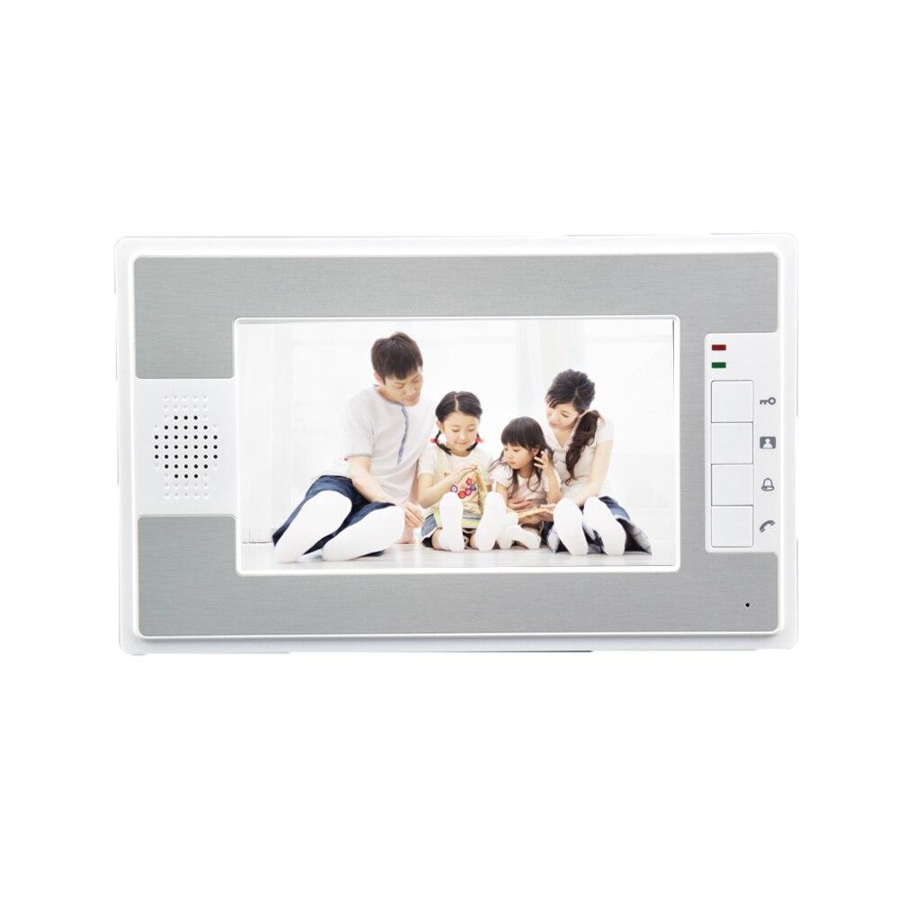 (1 PCS) NEW HD 600TVL 7 inch video door phone doorbell video door phone intercom system Only indoor Unit Colorful Monitor koonlung k1s dvr host only k1s main system unit